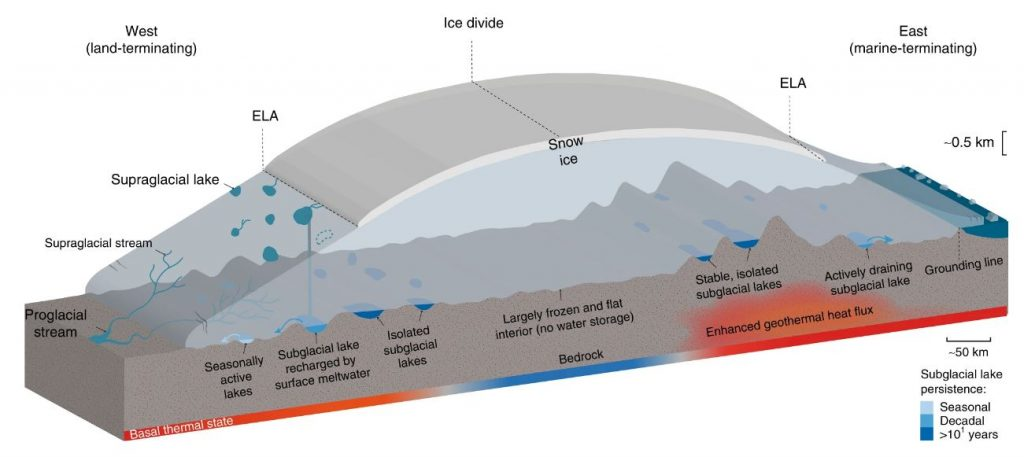 lakes beneath greenland ice sheet map, 60 lakes discovered beneath greenland ice sheet map, lakes beneath greenland ice sheet map june 2019