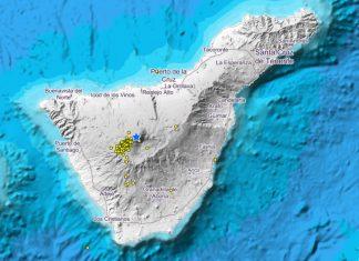earthquake swarm tenerife Teide volcano