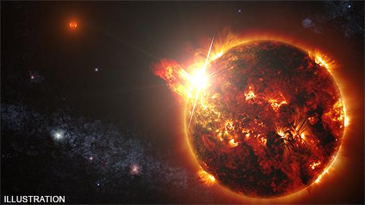 first solar flare extreterrestrial star recorded Detectan por primera vez una eyección de masa coronal de otra estrella expulsa 1,2 mil millones de toneladas de plasma al espacio 10.000 veces más que nuestro sol
