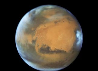 mars clouds formation, how do martian clouds form, meteor dust form martian clouds, martian clouds made of meteor dust