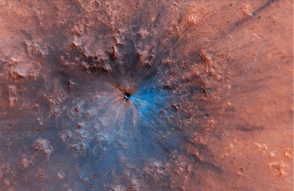 mars new crater, mars new crater discovery, mars new crater looks like sphincter of mummy