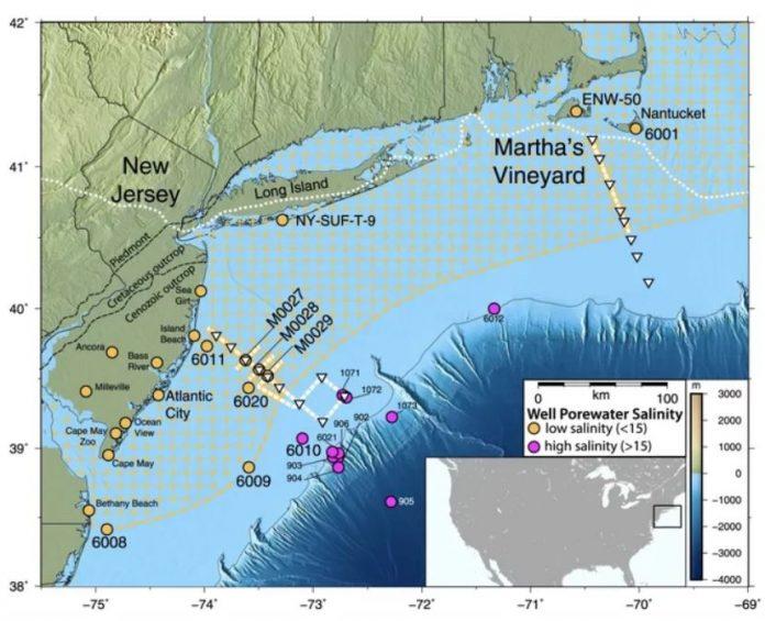 A giant aquifer is hiding under the Atlantic Ocean off US east coast, A giant aquifer is hiding under the Atlantic Ocean off US east coast map, A giant aquifer is hiding under the Atlantic Ocean off US east coast video