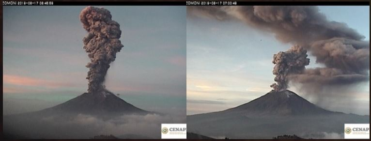 popocatepetl eruption june 17 2019, popocatepetl eruption june 17 2019 video, popocatepetl eruption june 17 2019 picture