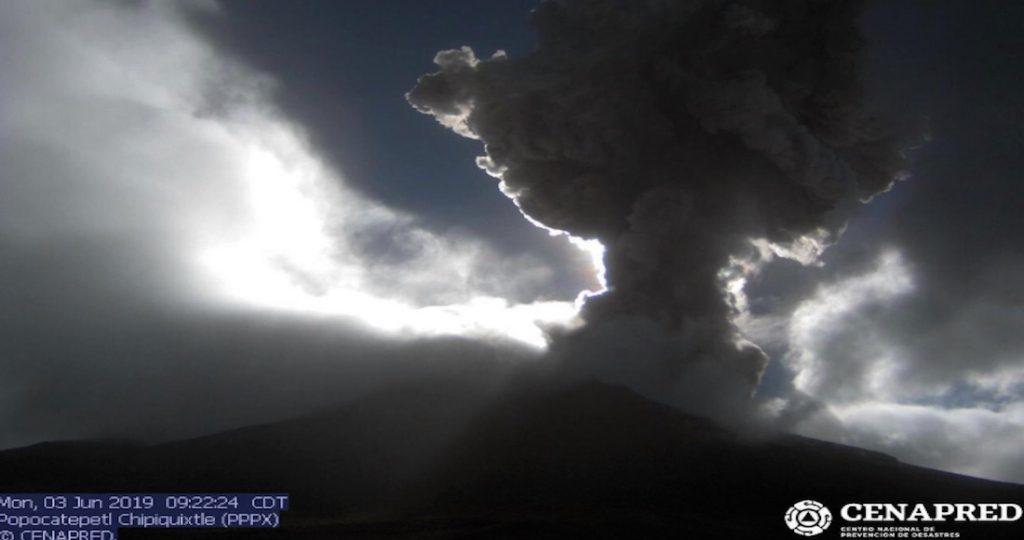 popocatepetl volcano eruption june 3 2019, popocatepetl volcano eruption june 3 2019 video, popocatepetl volcano eruption june 3 2019 pictures