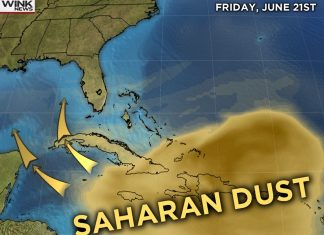 saharan dust florida, saharan dust florida map, saharan dust florida pictures, saharan dust florida video, saharan dust florida june 2019, Saharan dust will engulf Florida during the weekend,