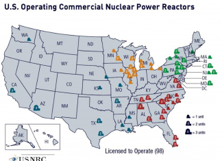 Map operating nuclear power reactor sites usa, operating nuclear power reactor sites usa map, nuclear disposal sites in the USA