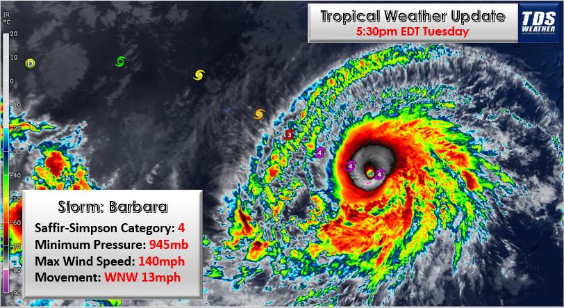 Major hurricane Barbara on its way to Hawaii, Major hurricane Barbara on its way to Hawaii video, Major hurricane Barbara on its way to Hawaii pictures, barbara hurricane july 2019