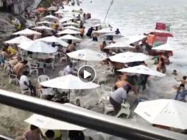brazil tsunami waves, giant waves like tsunami brazil beach video, brazil tsunami waves july 2019, tsunami like waves engulf beachgoers in Brazil, brazil tsunami waves video, brazil tsunami waves pictures