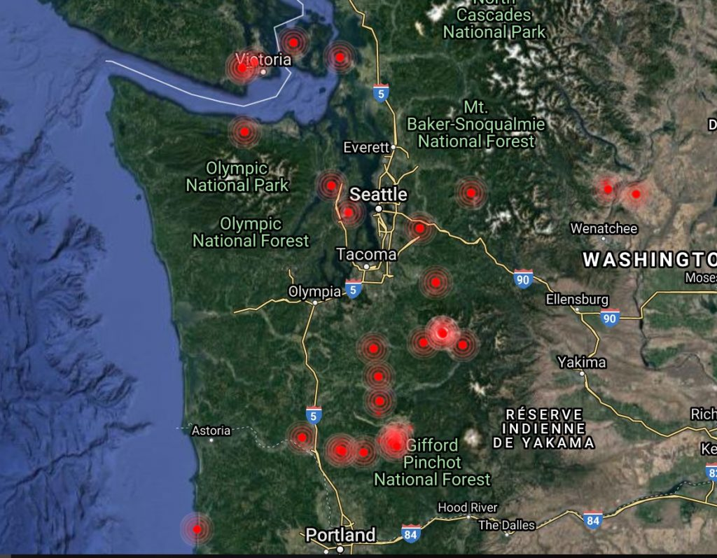 seattle earthquake threat, seattle earthquake risks, dangerous faults around seattle, seattle fault lines