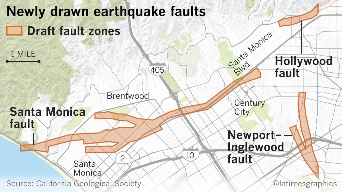 Los Angeles fault lines map - Strange Sounds