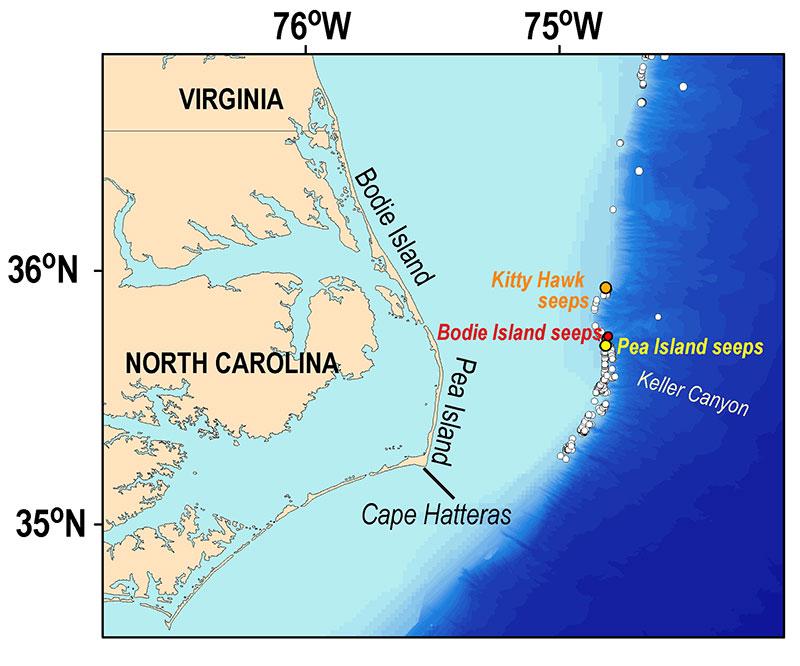 methane field north carolina map