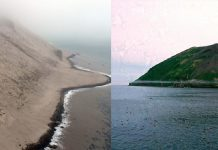 Raikoke volcano before and after the eruption of June 22 2019 video, Raikoke volcano before and after the eruption of June 22 2019 pictures, Raikoke volcano before and after the eruption of June 22 2019