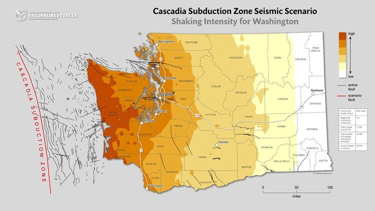 seattle major earthquake threat cascadia subduction zone, The Cascadia Subduction Zone poses a major earthquake threat for Seattle area, 3 earthquake threats for seattle, seattle most dangerous earthquake fault lines
