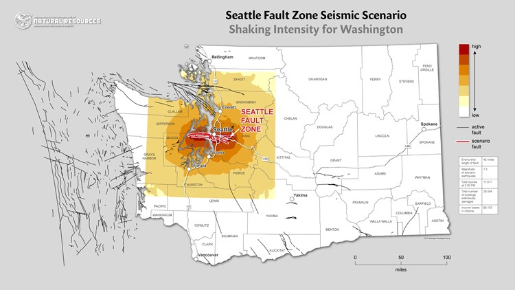seattle major earthquake threat seattle fault, seattle fault, most dangerous earthquake faults in seattle, dangerous seattle fault earthqauke