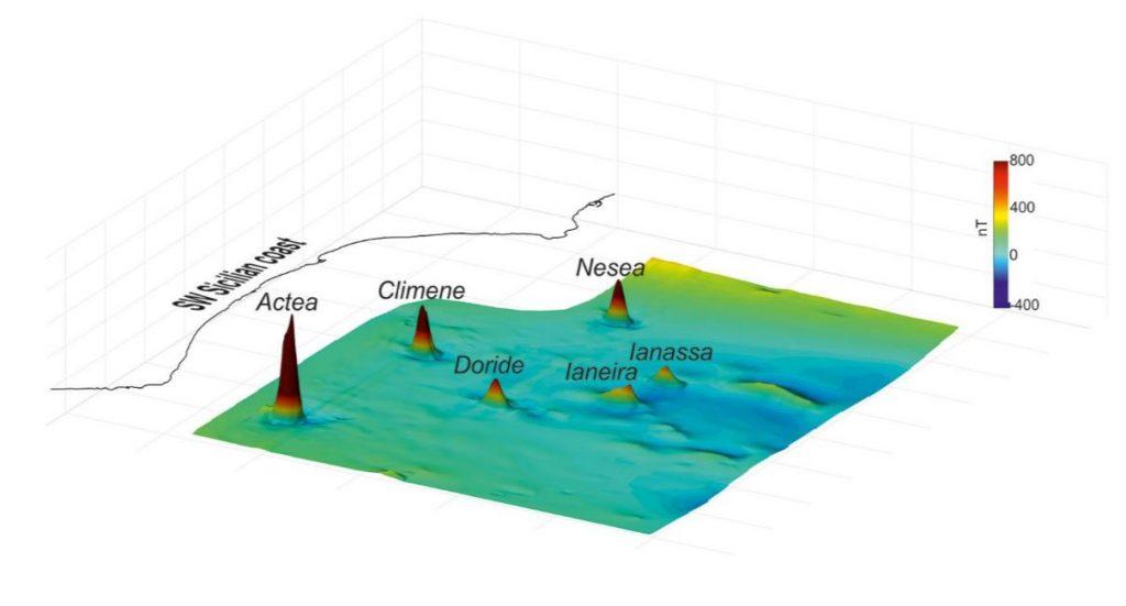 6 underwater volcanoes discovered off Sicily 3 1024x551 ¡increíble! Seis volcanes submarinos descubiertos recientemente a pocos kilómetros de Sicilia, Italia