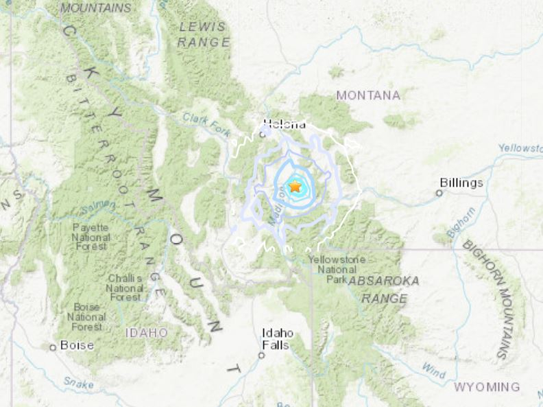 M4.1 earthquake Manhattan Montana Yellowstone, M4.1 earthquake Manhattan Montana Yellowstone map, M4.1 earthquake Manhattan Montana Yellowstone august 2019