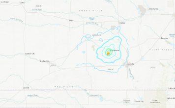 A M4.2 earthquake hit Kansas on August 16 2019, A M4.2 earthquake hit Kansas on August 16 2019 map