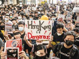 hongkong airport protest, all flights cancelled hongkong