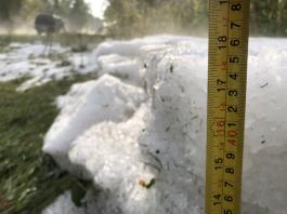 huge hail accumulation michigan, huge hail accumulation michigan video, huge hail accumulation michigan pictures, huge hail accumulation kalamazoo county michigan