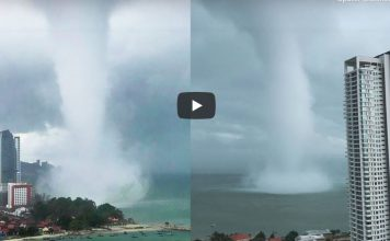 wtf, wtf video, waterspout video, massive waterspout video penang malaysia