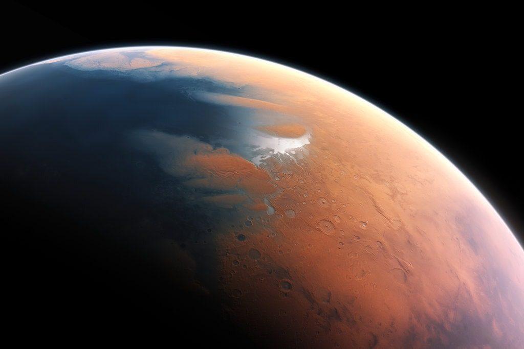 meteor impact mega tsunami mars ocean
