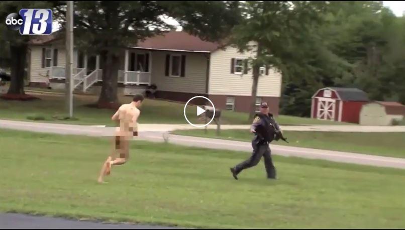 murderer runs naked in Virginia video, murderer runs naked in Virginia video august 2019, Murderer of 3 runs naked in rural Virginia in video