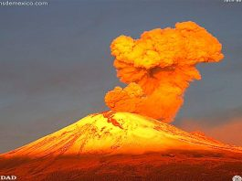 Massive eruptions of Popocatepetl volcano on August 14 2019, Massive eruptions of Popocatepetl volcano on August 14 2019 video, Massive eruptions of Popocatepetl volcano on August 14 2019 pictures