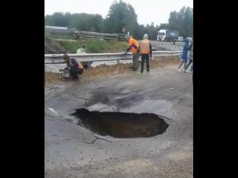 russia flooding sinkhole road collapse, russia flooding sinkhole road collapse video, russia flooding sinkhole road collapse picture, vladivostok flooding, vladivostok flooding video, vladivostok flooding august 2019