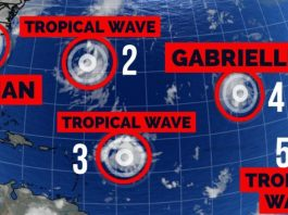 5 dangerous storms currently forming in Atlantic, 5 dangerous storms currently forming in Atlantic september 2019, hurricane dorian, tropical storm gabrielle, 3 tropical waves, hurricane season peak