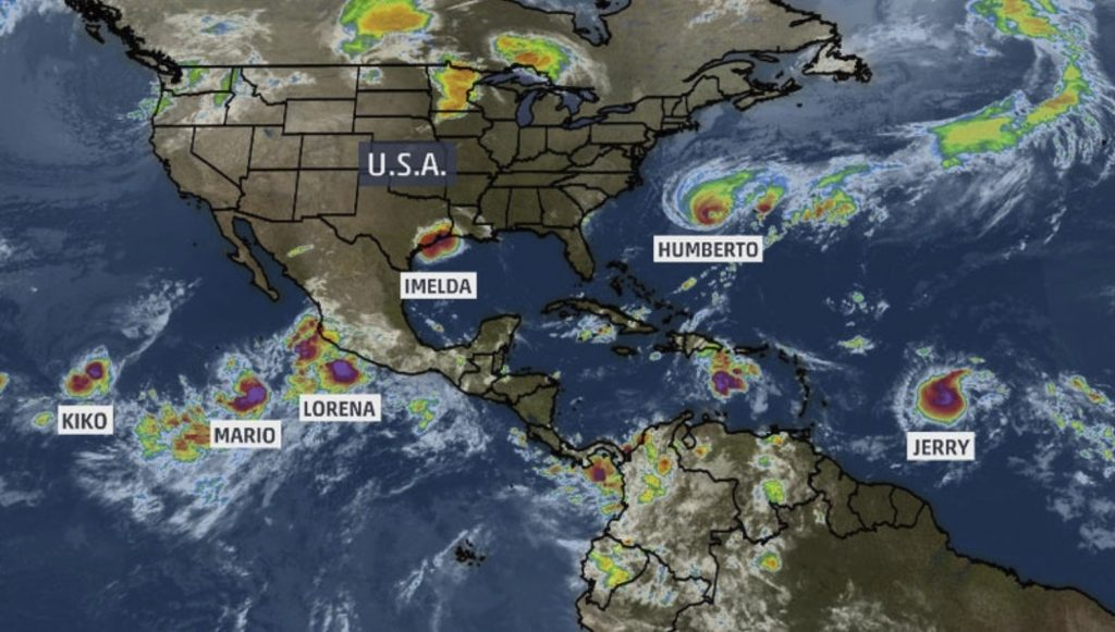 Six Named Storms at Once in Atlantic and Eastern Pacific Basins Ties Modern Record