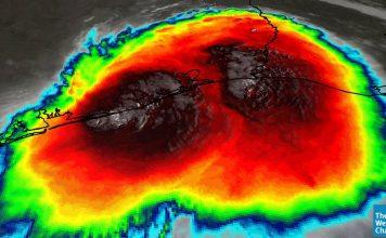 "#Imelda rain amounts up to 21"" measured in coastal #txwx with the cloud tops bub"