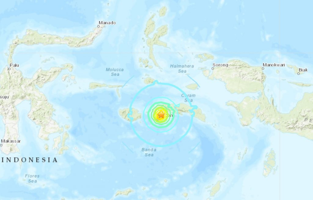 M6.5 earthquake hits Indonesia september 26 2019, M6.5 earthquake hits Indonesia september 26 2019 map, M6.5 earthquake hits Indonesia september 26 2019 video, A M6.5 earthquake hit off Maluku Province in Indonesia on September 26 2019