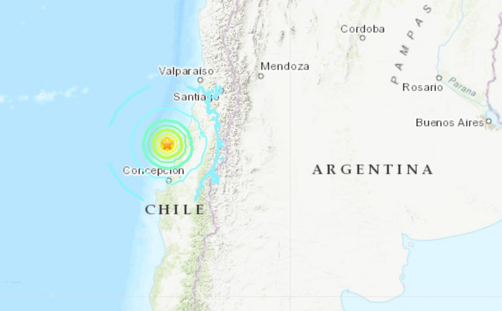 M6.8 earthquake hits Chile September 29 2019, M6.8 earthquake hits Chile September 29 2019 map, M6.8 earthquake hits Chile September 29 2019 video
