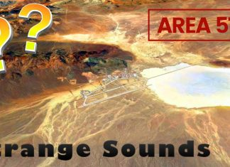 Strange Sounds Coming from the Area 51 (mysterious top secret US base)