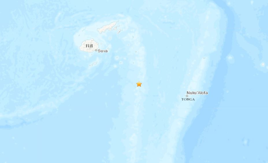 Fiji M6.7 earthquake on September 1 2019, Fiji M6.7 earthquake on September 1 2019 map