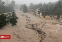 Spain floods devastate south-east Spain in September 2019