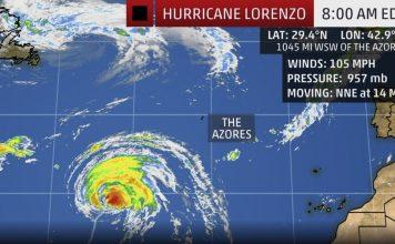 Hurricane Lorenzo forecast, Hurricane Lorenzo forecast map, Hurricane Lorenzo forecast video, hurricane lorenzo news