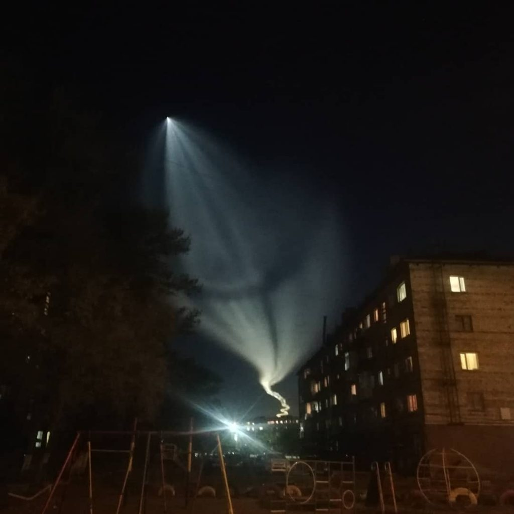 jellyfish soyuz rocket launch, strange sky phenomenon kazakhstan, alien pehnoemnon, soyuz rocket launch september 25 2019