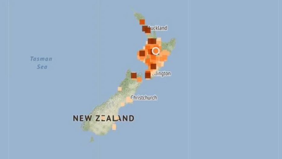 taupo new zealand map Shallow M5 1 And M4 5 Earthquakes Strike Lake Taupo Volcano In New