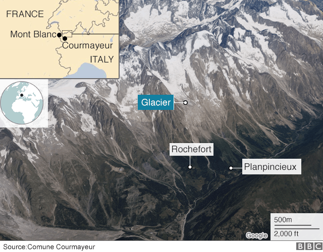 Mont Blanc glacier at risk of collapse mont blanc glacier collapse, glacier collapse mont blanc