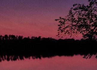 purple sunsets volcanic eruption
