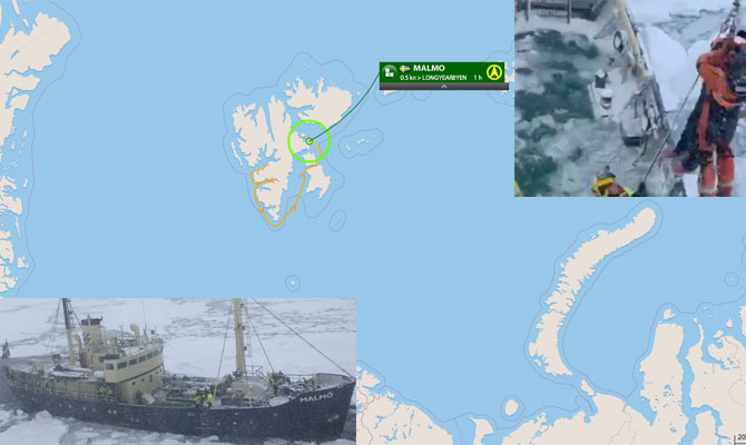 arctic ice, ship climate change warriors stuck arctic ice, enough arctic ice to stop ship, ship climate change warriors stuck arctic ice september 2019