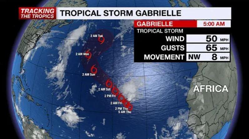 tropical storm gabrielle, tropical storm gabrielle news, tropical storm gabrielle update, tropical storm gabrielle map