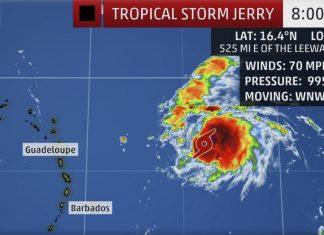 tropical storm jerry,Tropical storm Jerry expected to become Hurricane