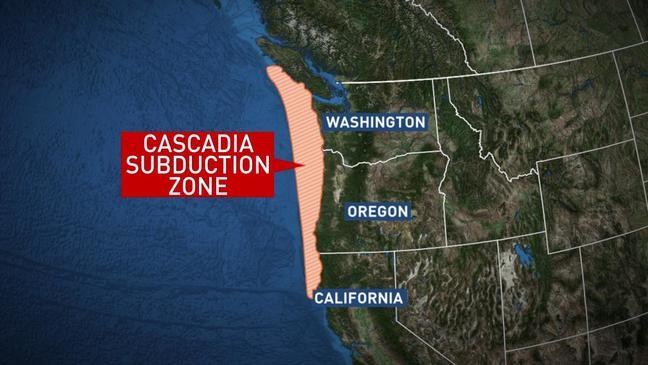 Cascadia Subduction Zone map, Cascadia Subduction Zone map 2019