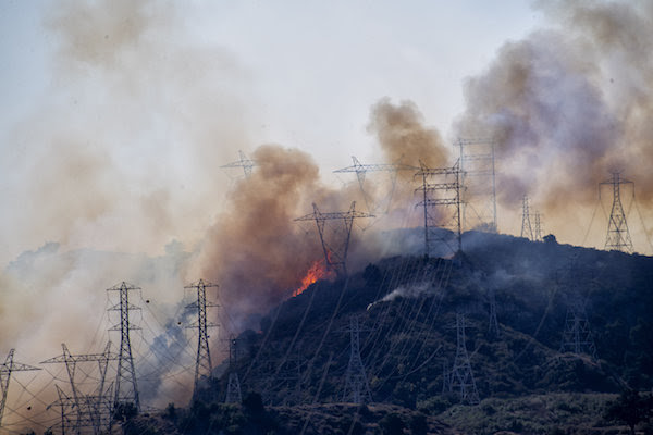 california fires blackouts, manmade blackouts california fires, California is burning in the dark