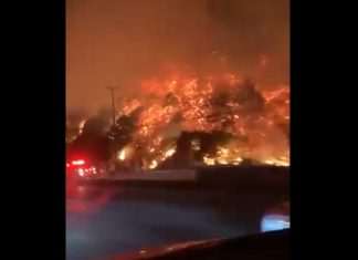 The Getty fire looks like lava near Los Angeles, The Getty fire looks like lava near Los Angeles video, The Getty fire looks like lava near Los Angeles pictures, getty fire lava