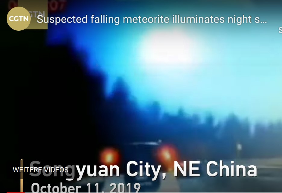 Huge fireball changes night into day over China on October 11 2019, Huge fireball changes night into day over China on October 11 2019 video