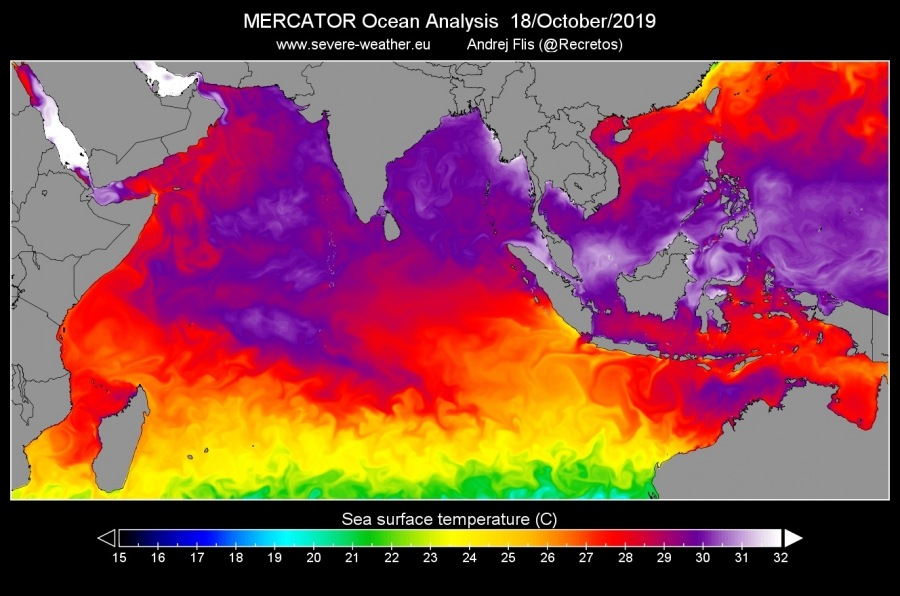 indian ocean dipole iod october 2019