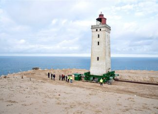 lighthouse moved from eroding coast denmark video, lighthouse moved from eroding coast denmark video october 2019